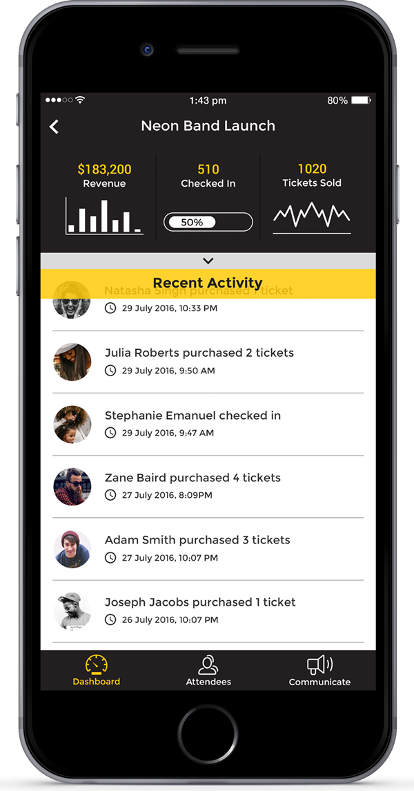 Buzz Event Manager App
