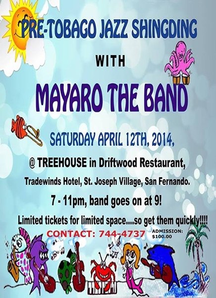 Pre-Tobago Jazz Shindig With Mayaro The Band