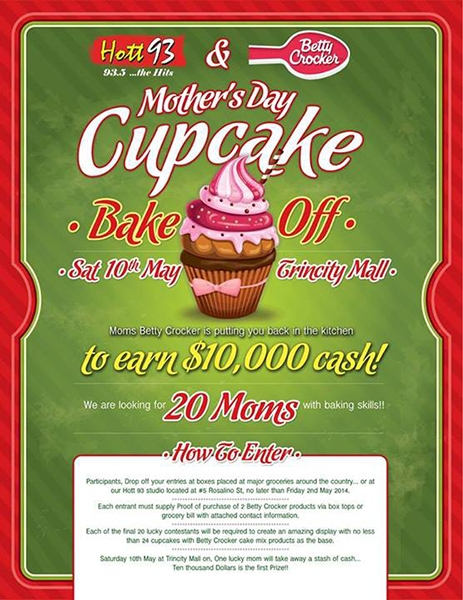 Hott 93 & Betty Crocker Mother's Day Bake Off