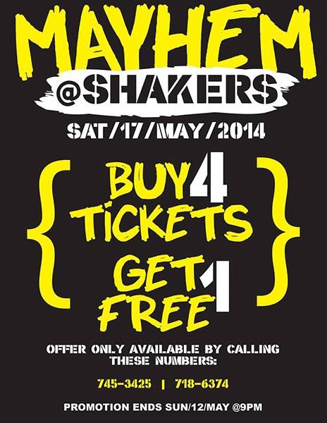 Mayhem @ Shakers