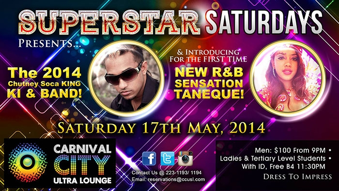 Superstar Saturdays: KI & 3Veni and Taneque