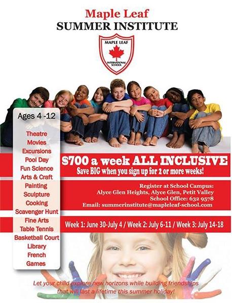 Maple Leaf International School Summer Institute 2014
