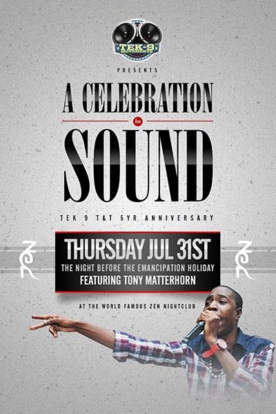 Celebration in Sound: TEK 9 T&T's 5yr Anniversary