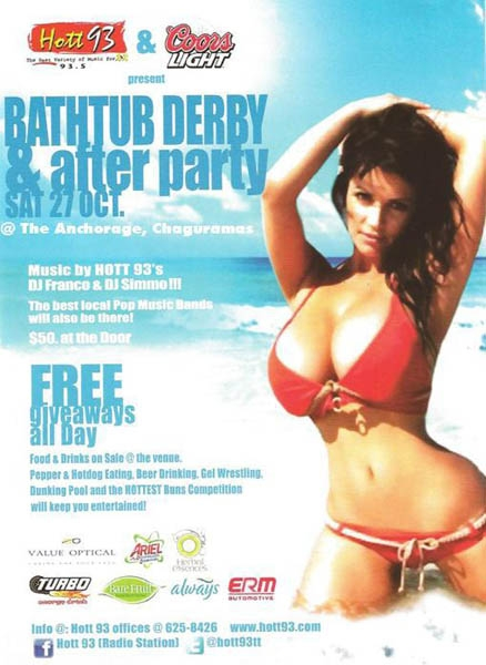 The Hott 93 Bathtub & Beach Anniversary Party