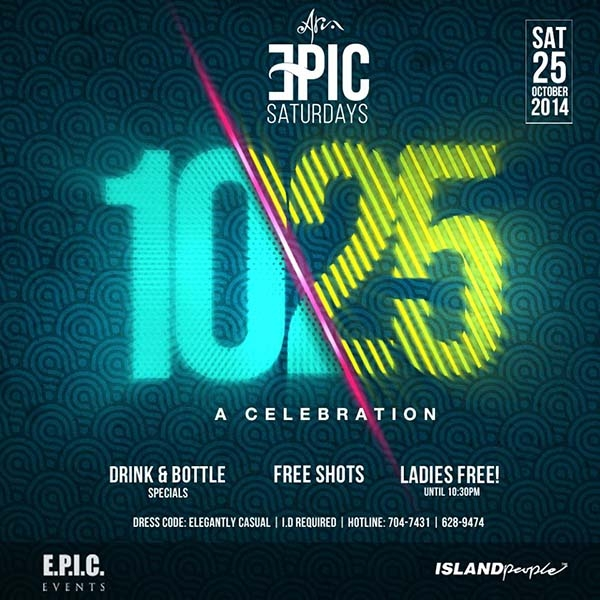 EPIC Saturdays: Celebrate 10/25