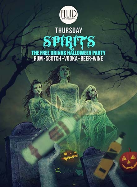 SPIRITS: All Hallows Eve Free Drinks Affair