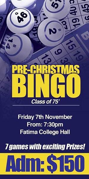 Fatima Old Boys' Association Class of '75 Pre-Christmas Bingo