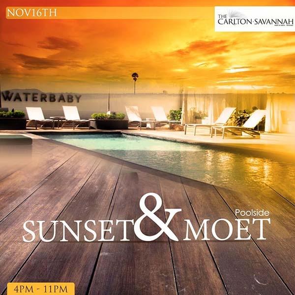 Sunset & Moet Poolside