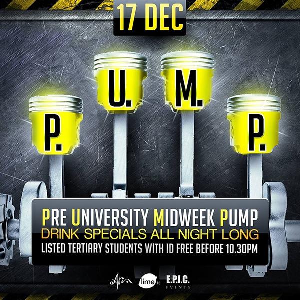 PUMP: Post University Midweek Pump