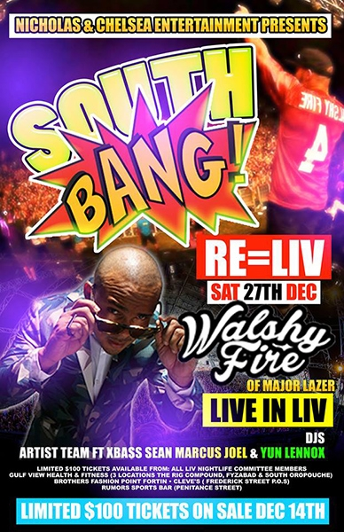 South Bang: Featuring Walshy Fire of Major Lazer