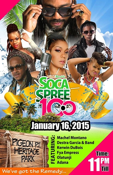Soca Spree 10.0 - Soca On The Beach!