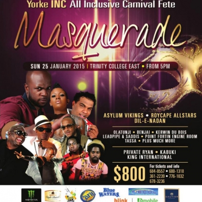 Yorke Inc. Premium All Inclusive Fete: Masquerade