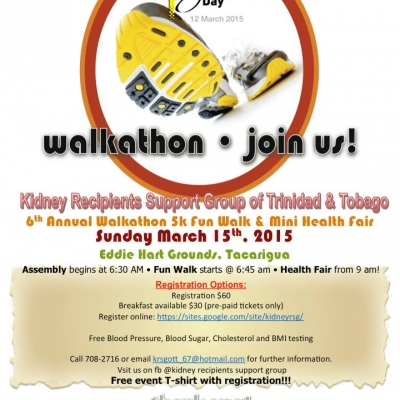 World Kidney Day Walk-A-Thon 5K Fund Walk & Mini Health Fair 2015