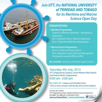 UTT Maritime and Marine Science Open Day 2015