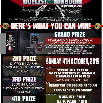 Duelist Kingdom X: The Duelist Kingdom Championships 2015!