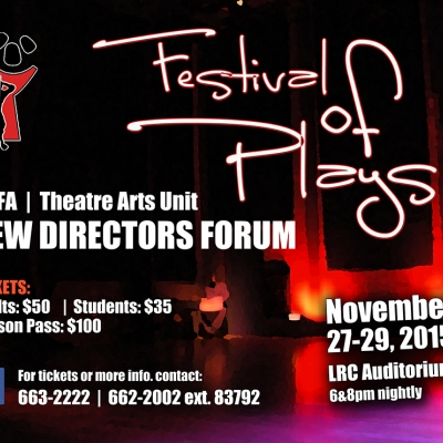 UWI DCFA's New Directors' Forum: A Festival of Plays