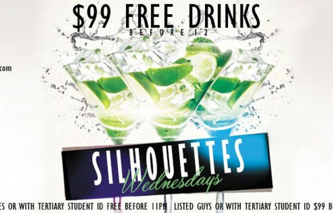Silhouettes Free Drinks Wednesdays
