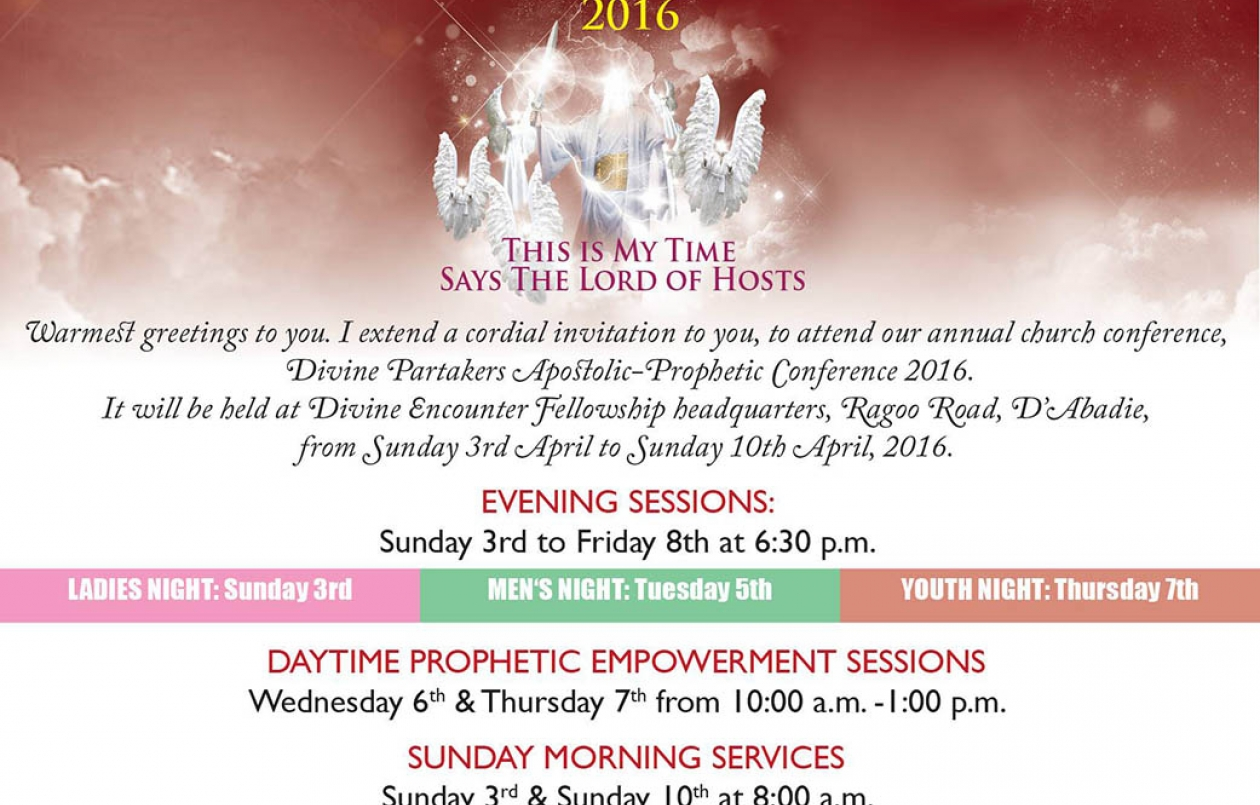 Divine Partakers Apostolic Prophetic Conference 2016 Id 17115