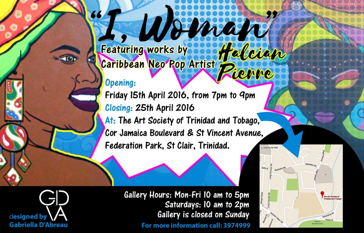 I, Woman  Art Exhibition by Halcian Pierre