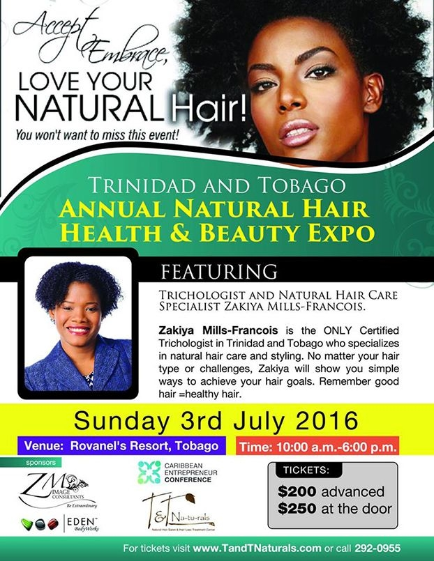 beauty health natural expo hair event tobago audience wider promote reach