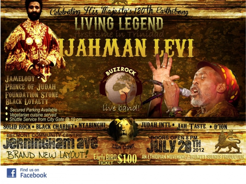 Lion Chant - IJahMan Levi & BuzzRock LIVE IN TRINIDAD H.I.M, 12Oth Anniversary