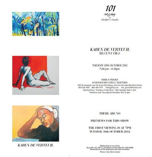 Karen De Verteuil Recent Oils Exhibition