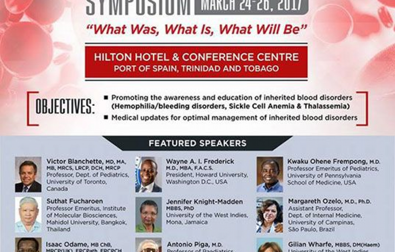Inherited Blood Disorders Symposium: March 24-26 2017