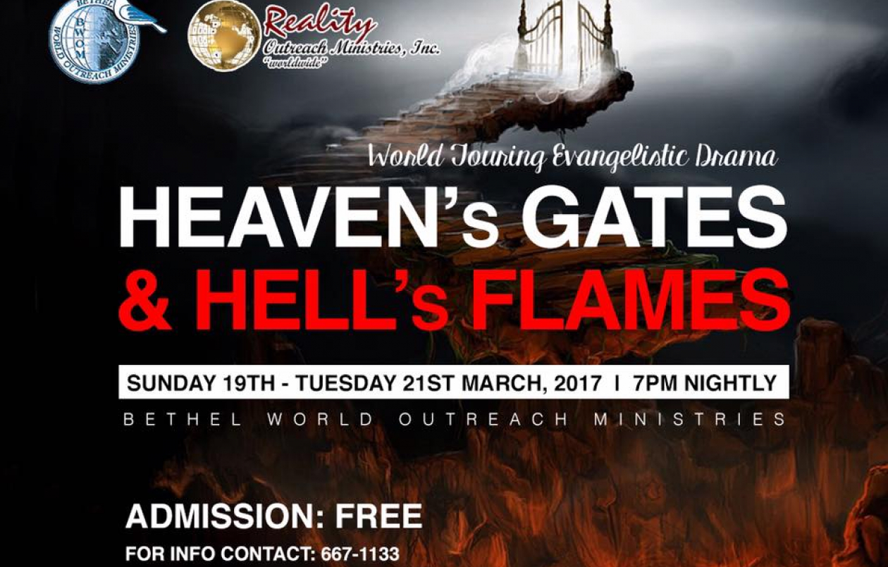 Heaven's Gates & Hell's Flames - 19-21st March 2017