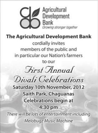 Agricultural Development Band First Annual Divali Celebrations