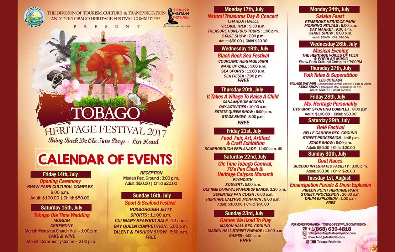 Tobago Heritage Festival 2017: Ole Time Tobago Carnival, 70's Pan Clash & Heritage Calypso Monarch