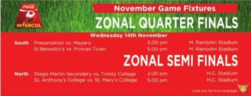2012 Intercol: Zonal Quarter Finals