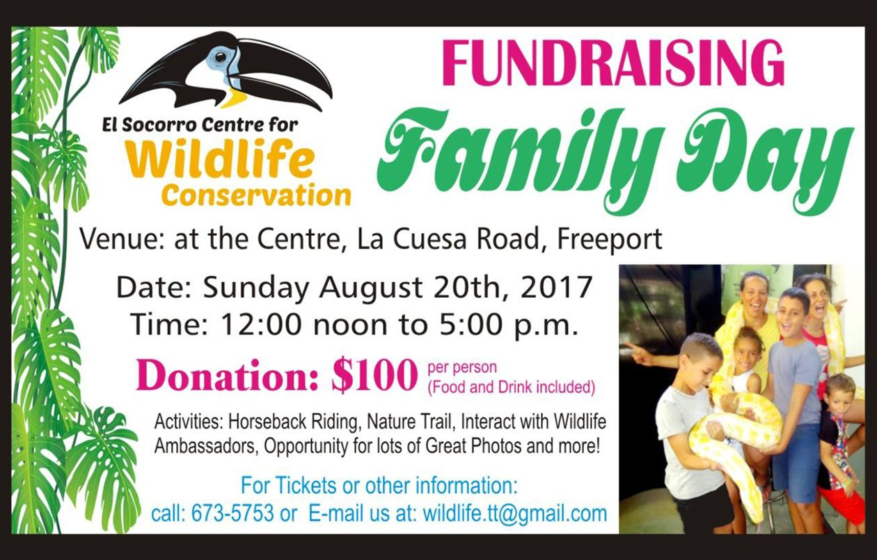 The El Socorro Centre For Wildlife Conservation Family Day Fundraiser 2017
