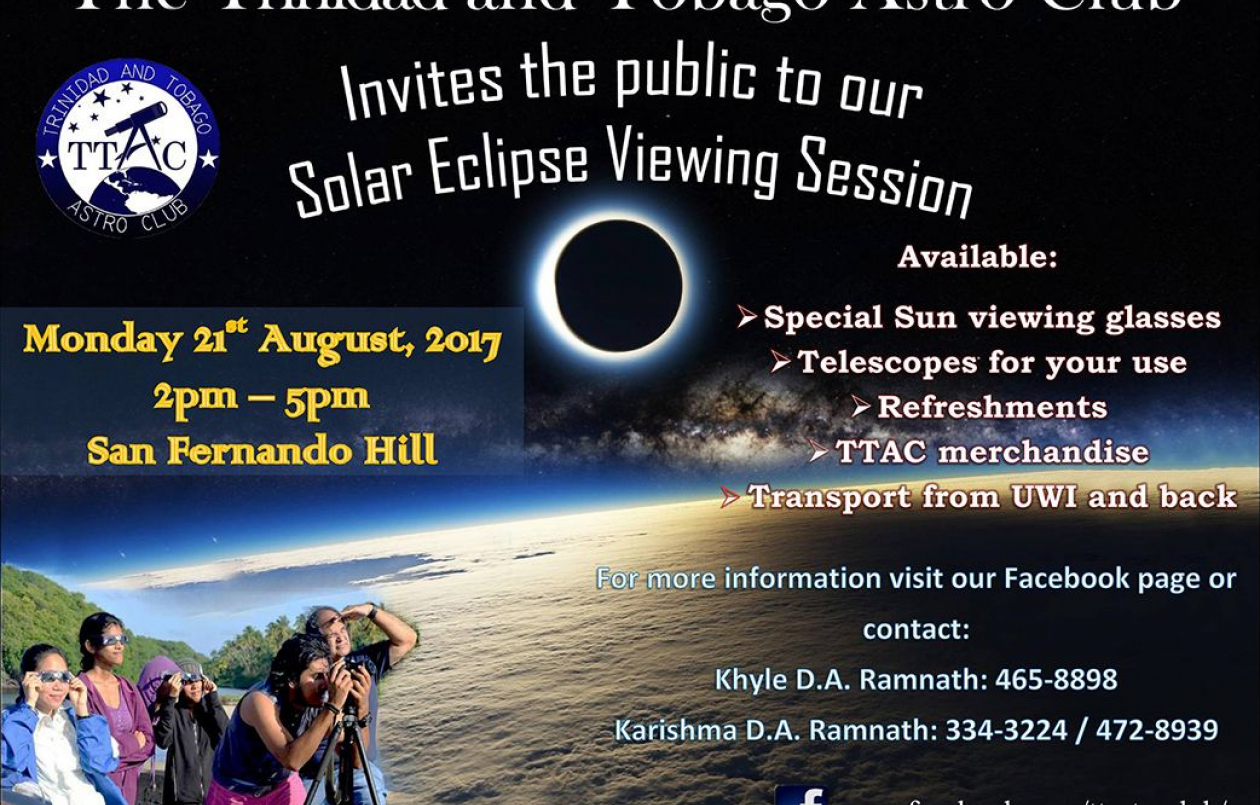 Trinidad and Tobago Astro Club - 2017 Solar Eclipse Viewing Session