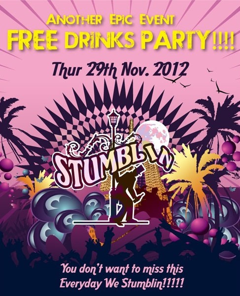 Stumblin's Free Drinks Party