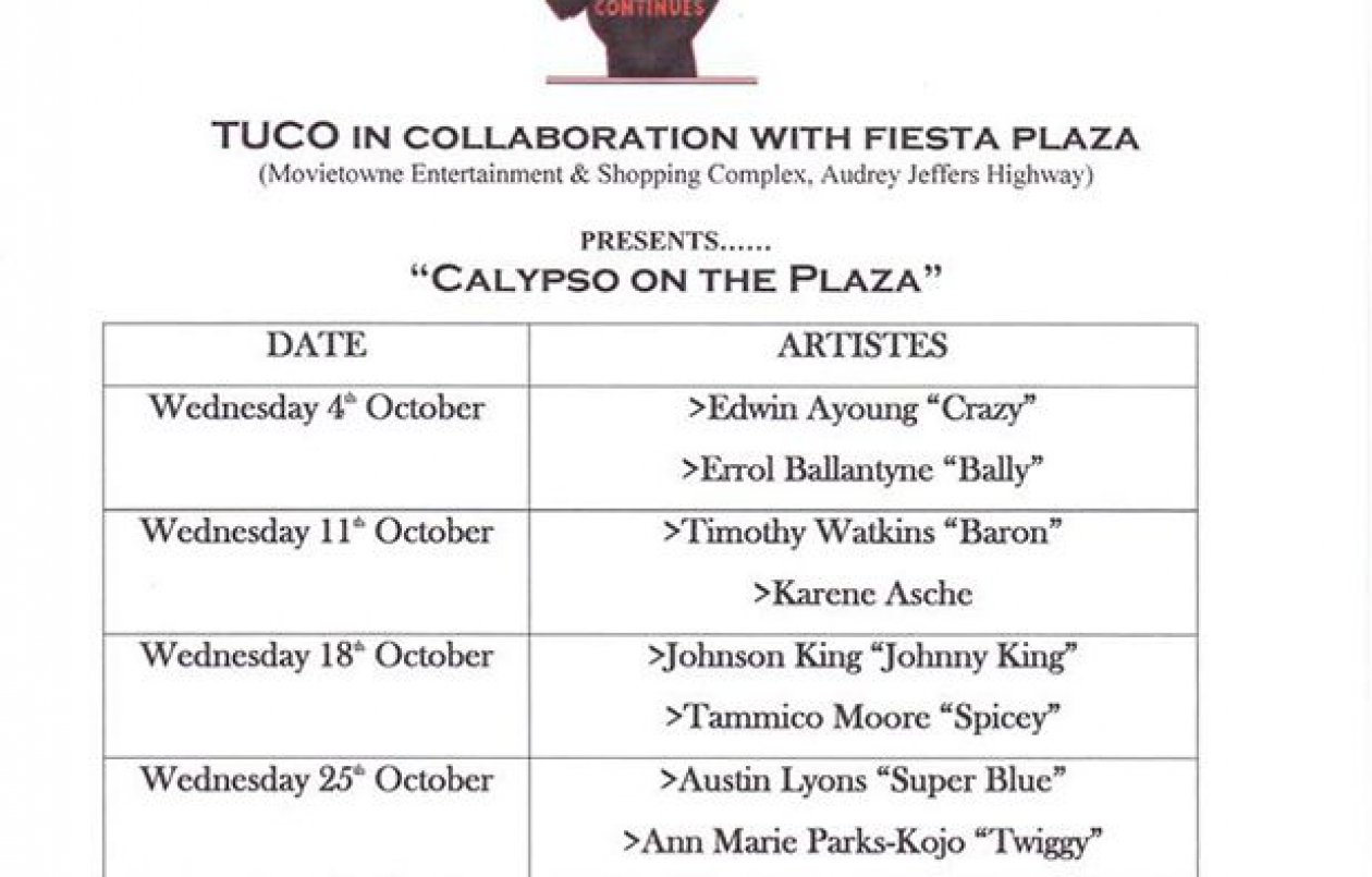 Calypso On The Plaza: Super Blue & Twiggy
