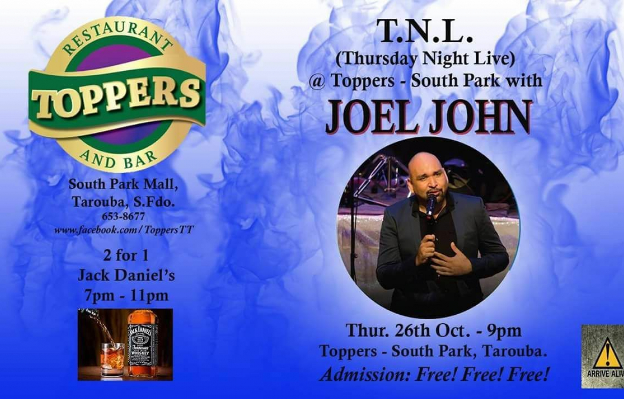 Joel John LIVE At Toppers South Park