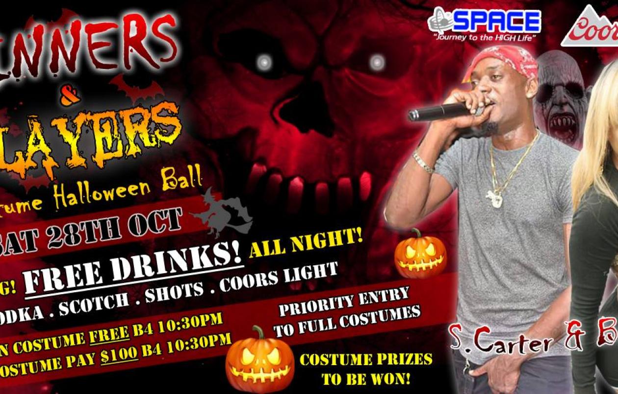 Sinners & Slayers Halloween Costume Ball - Free Drinks