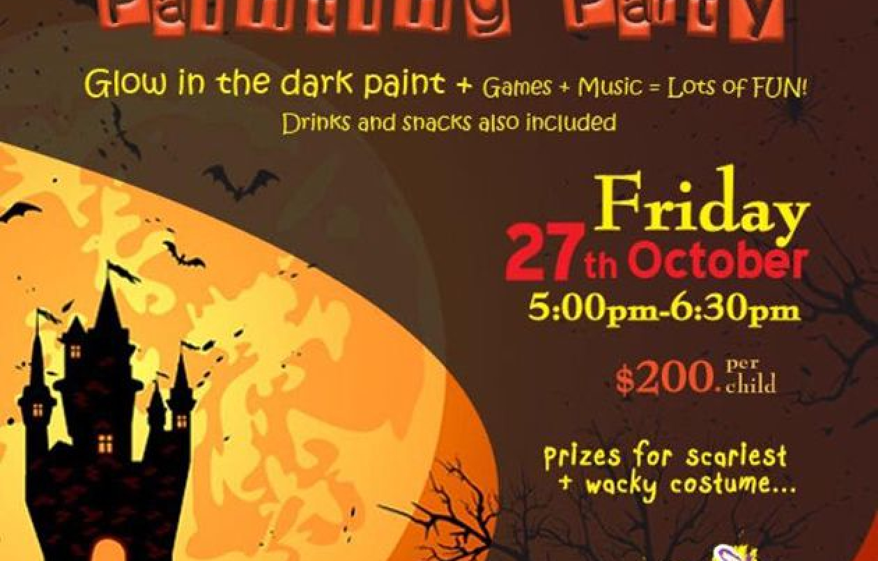 Kids Halloween Painting Party 2017