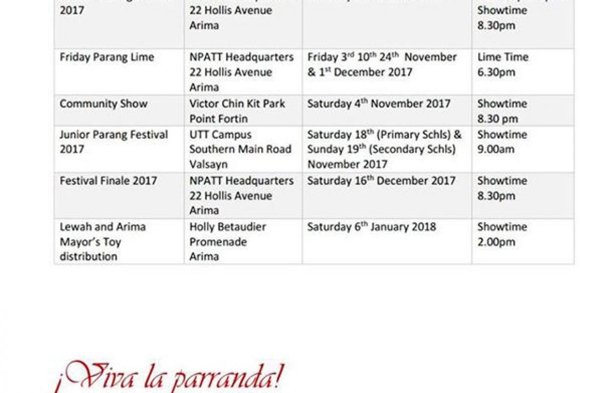 National Parang Association Junior Parang Festival 2017