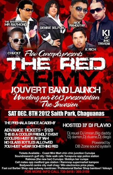 The Red Army J'Ouvert Band Launch 2013: The Invasion