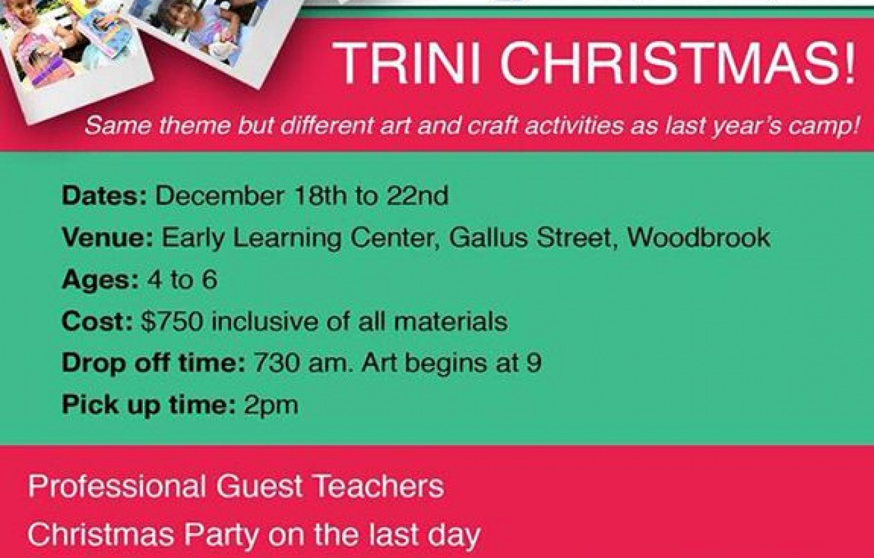 Art Camp With Aunty Jaime: Trini Christmas 2017