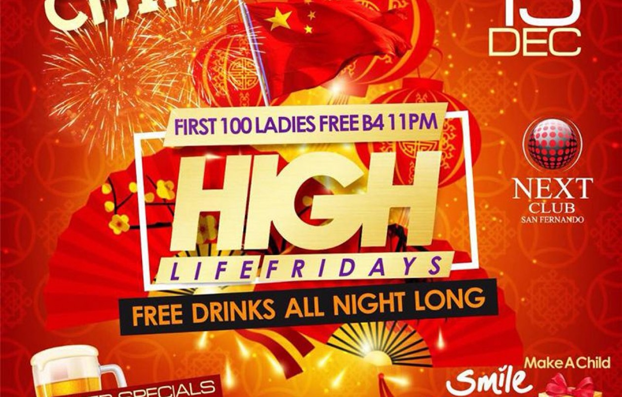 HIGH LIFE FRIDAYS CHINA (FREE DRINKS)