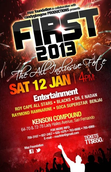First 2013: The All Inclusive Fete