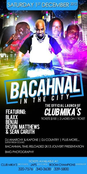 Bacchanal In The City: The Official Launch of Club Mika's