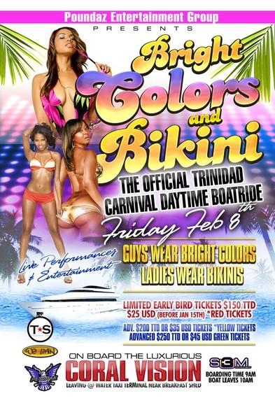Bright Colours & Bikinis Boatride Trinidad