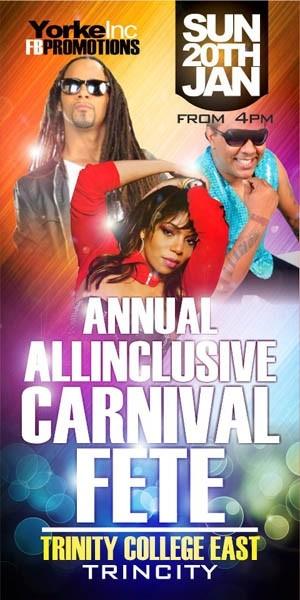 Yorke Inc. Annual All Inclusive Carnival Fete 2013