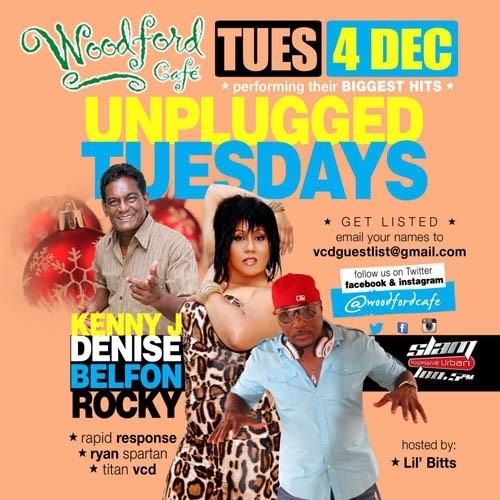 Unplugged Tuesdays! Denise Belfon, Kenny J & Rocky
