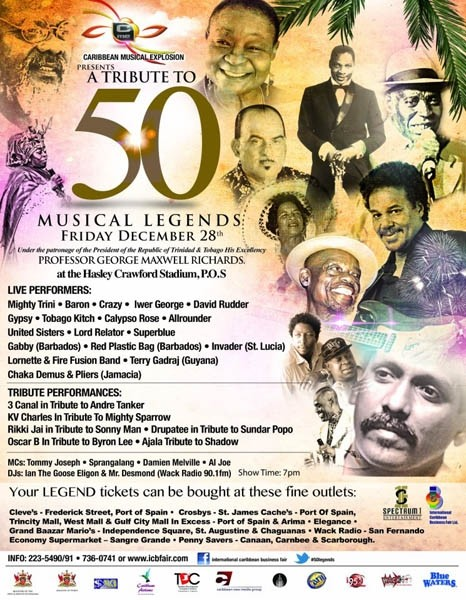 Caribbean Musical Explosion: A Tribute to 50 Musical Legends