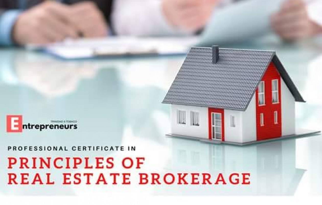 Professional Certificate In Principles Of Real Estate Brokerage