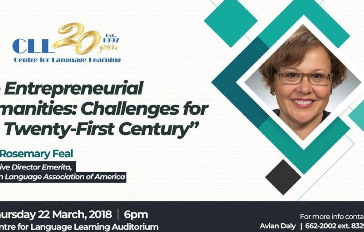 Public Lecture - The Entrepreneurial Humanities: Challenges For The Twenty-First Century